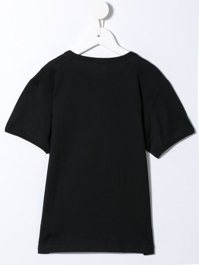 DOLCE & GABBANA CHILDREN: DG patch cotton t-shirt Color Black_2