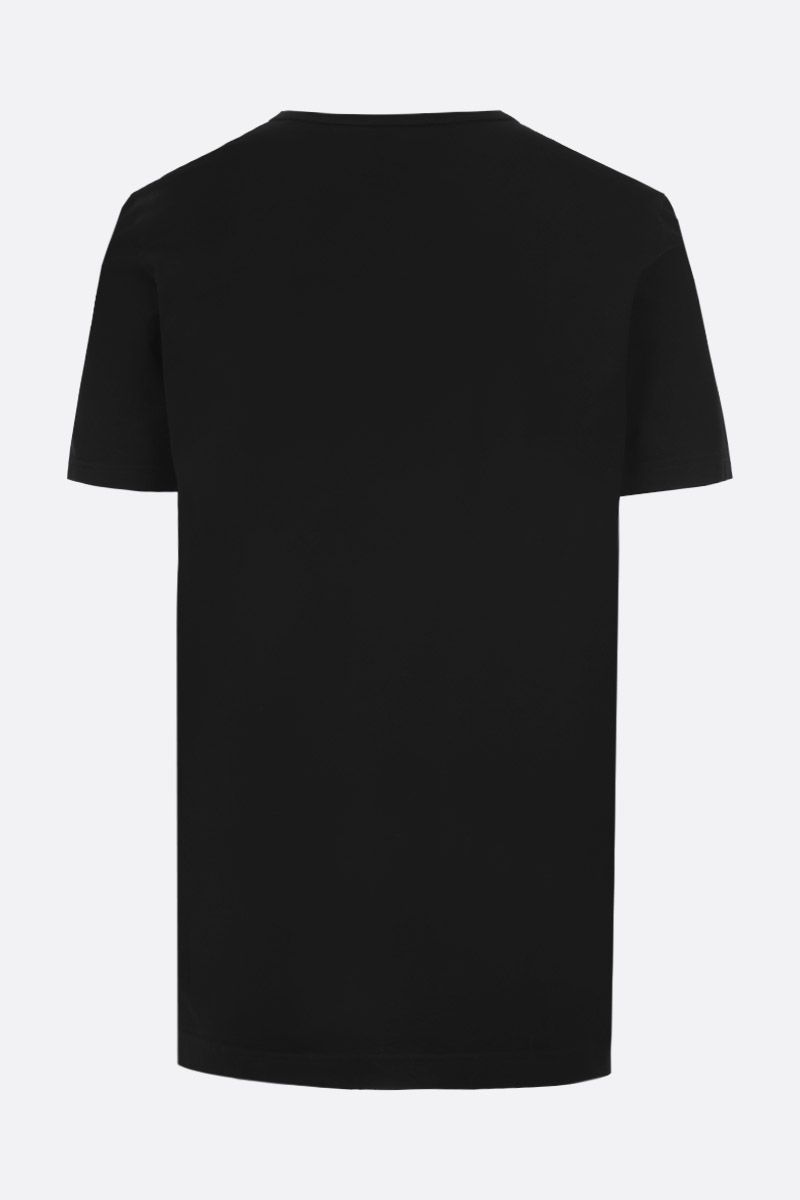 DOLCE & GABBANA: jersey t-shirt with logo plaque Color Black_2