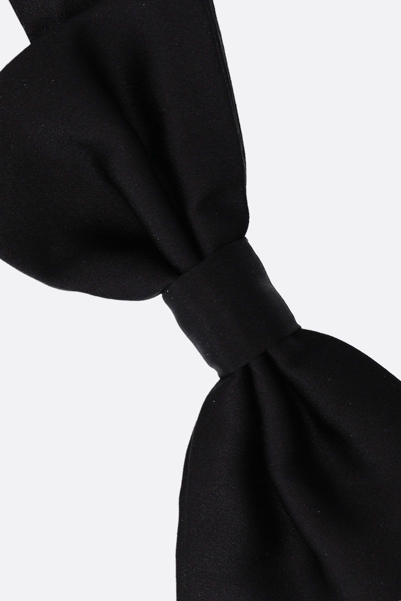 DOLCE & GABBANA: silk bow tie Color Black_2