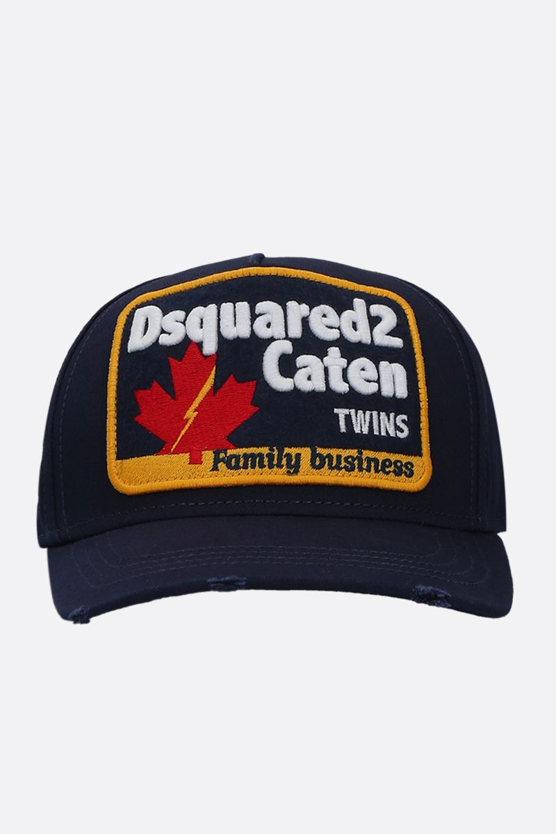 DSQUARED2: Dsquared2 patch-detailed gabardine baseball cap Color Blue_1