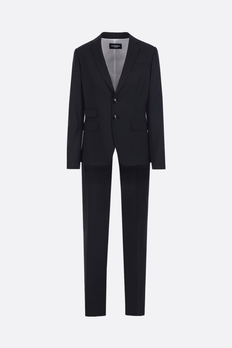 DSQUARED2: London two-piece suit in stretch wool Color Black_1