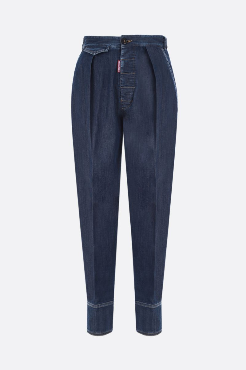 DSQUARED2: jeans carrot-fit Colore Blu_1