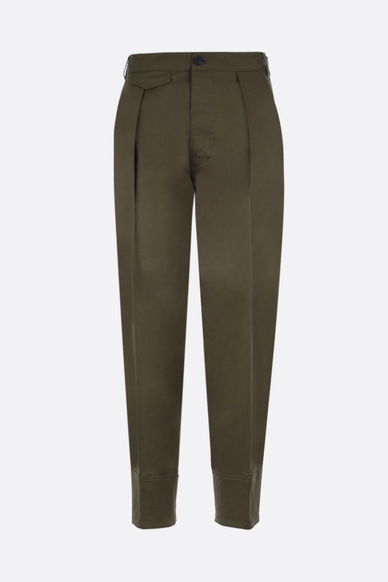 DSQUARED2: pantalone carrot-fit in cotone stretch Colore Verde_1