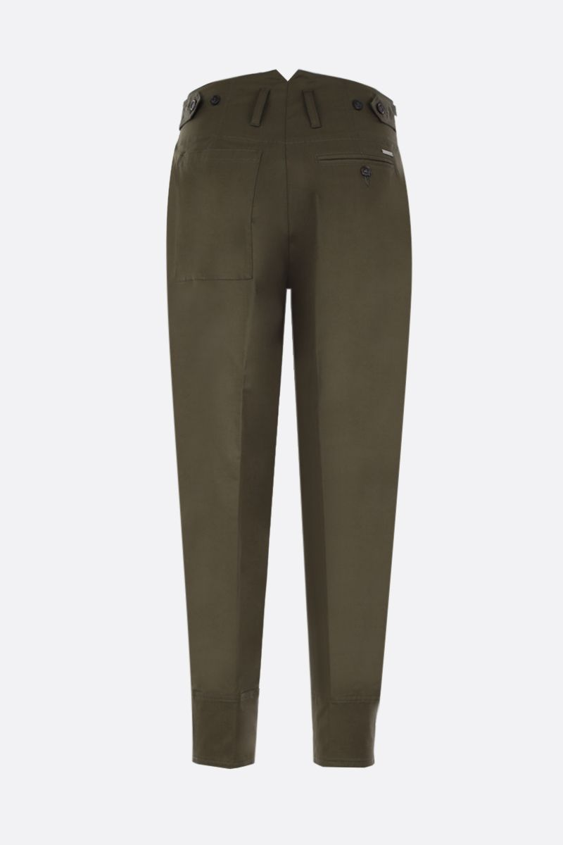 DSQUARED2: pantalone carrot-fit in cotone stretch Colore Verde_2