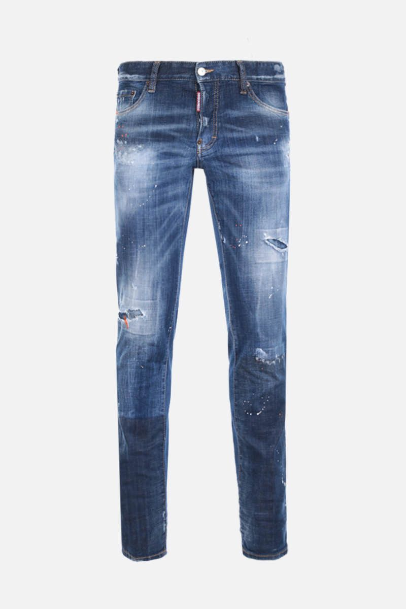DSQUARED2: Slim jeans with distressed effect Color Blue_1