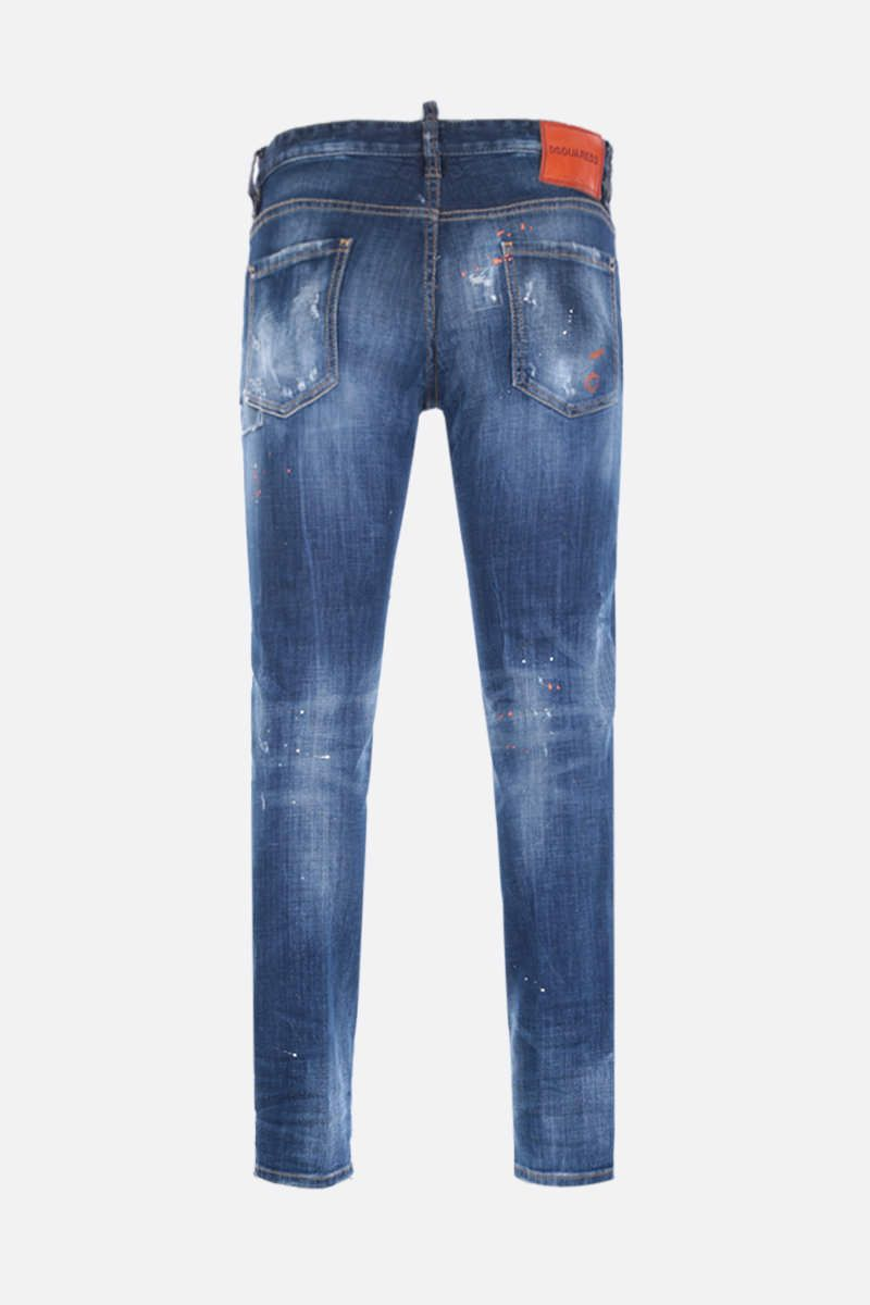 DSQUARED2: Slim jeans with distressed effect Color Blue_2