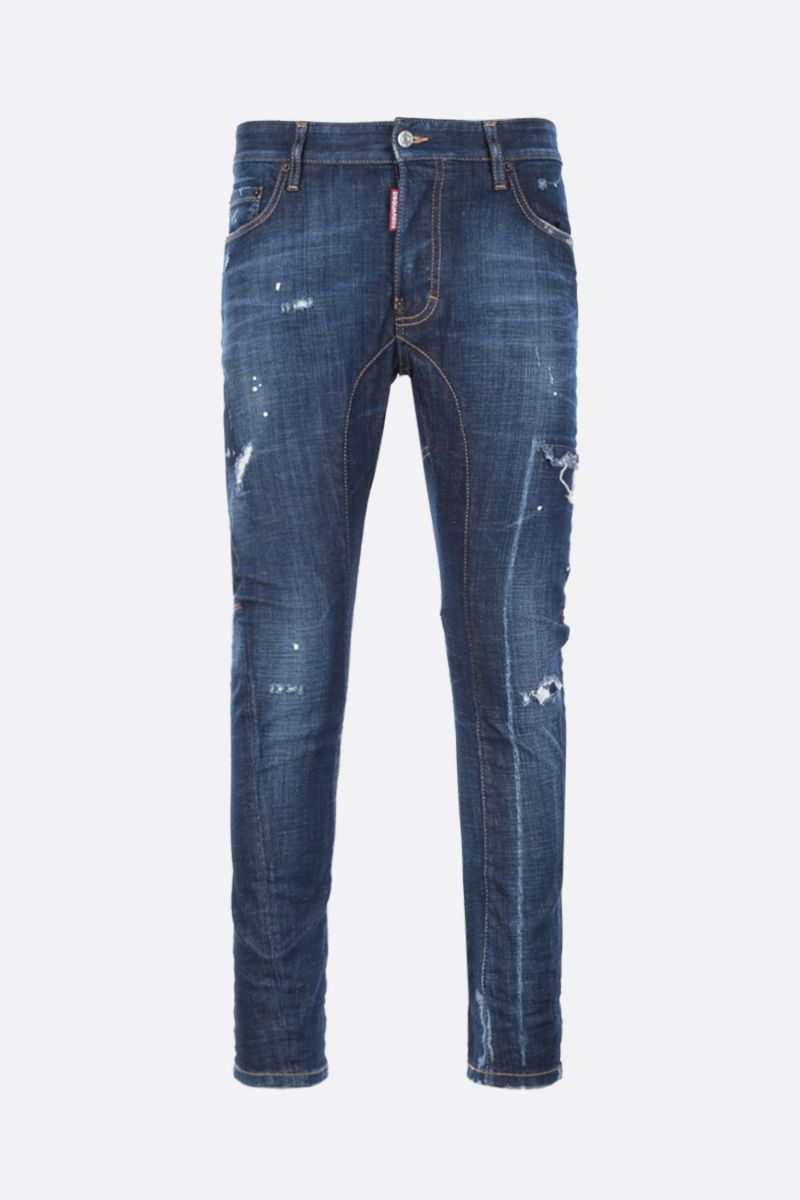 DSQUARED2: Tidy Biker jeans with distressed effect Color Blue_1