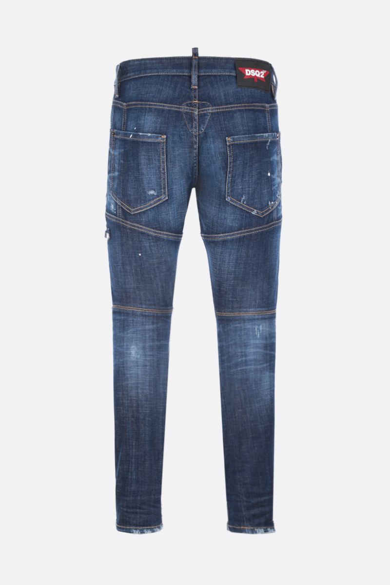 DSQUARED2: Tidy Biker jeans with distressed effect Color Blue_2