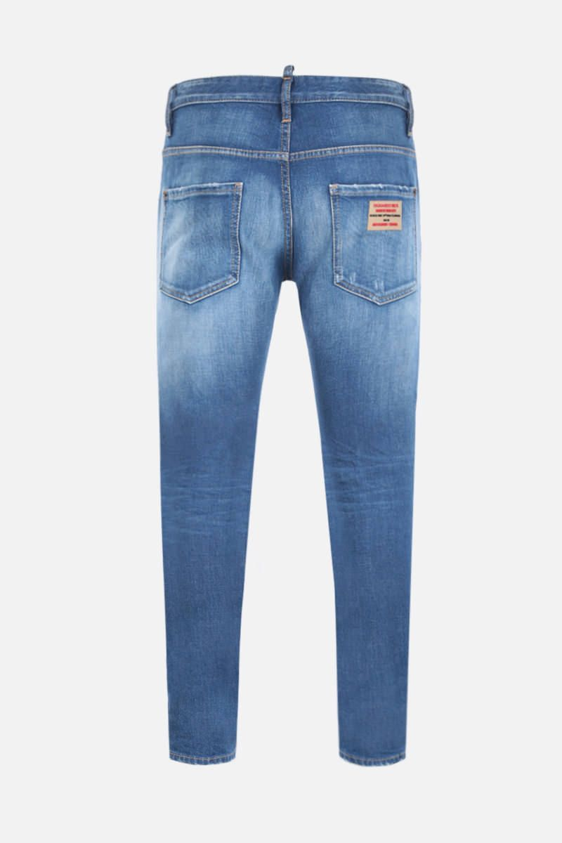 DSQUARED2: jeans Skater con patch logo Colore Blu_2