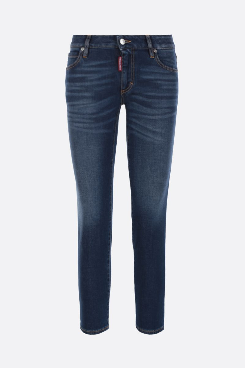 DSQUARED2: jeans cropped Twiggy Colore Blu_1