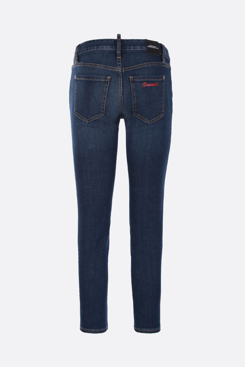 DSQUARED2: jeans cropped Twiggy Colore Blu_2