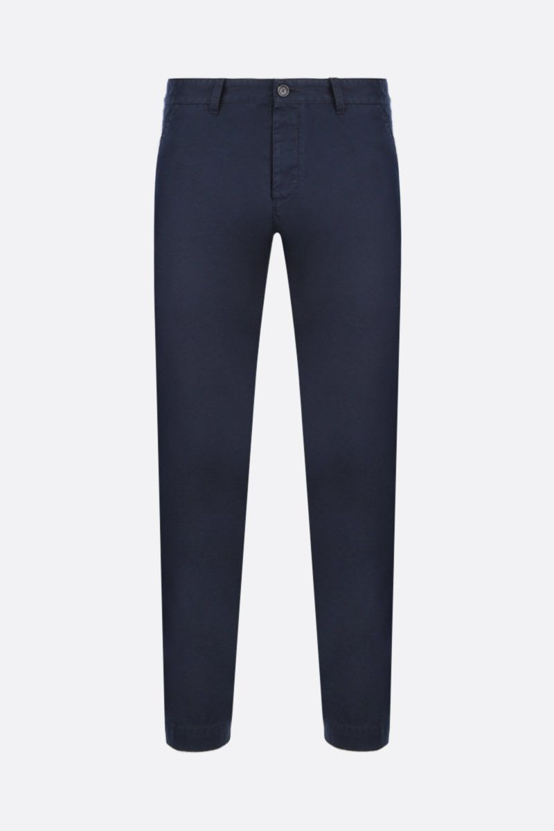 DSQUARED2: cotton chino pants Color Blue_1