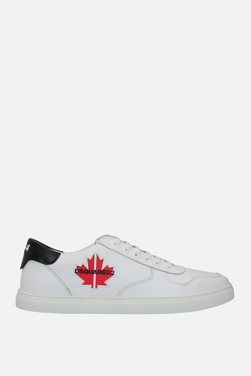 DSQUARED2: Maple Gym sneakers in smooth leather Color White_1