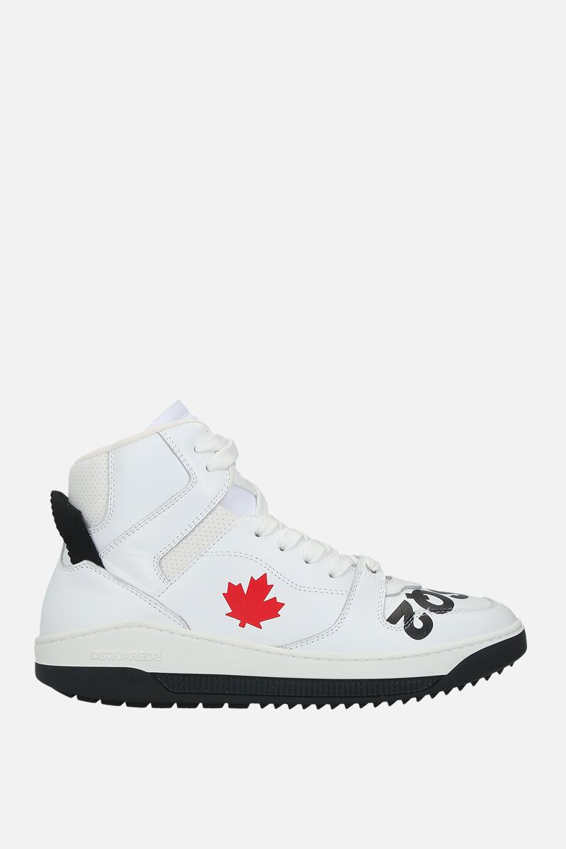 DSQUARED2: Barkley sneakers in smooth leather Color White_1