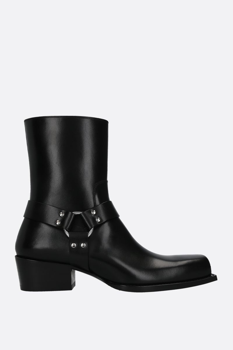 DSQUARED2: Rider western boots in smooth leather Color Black_1