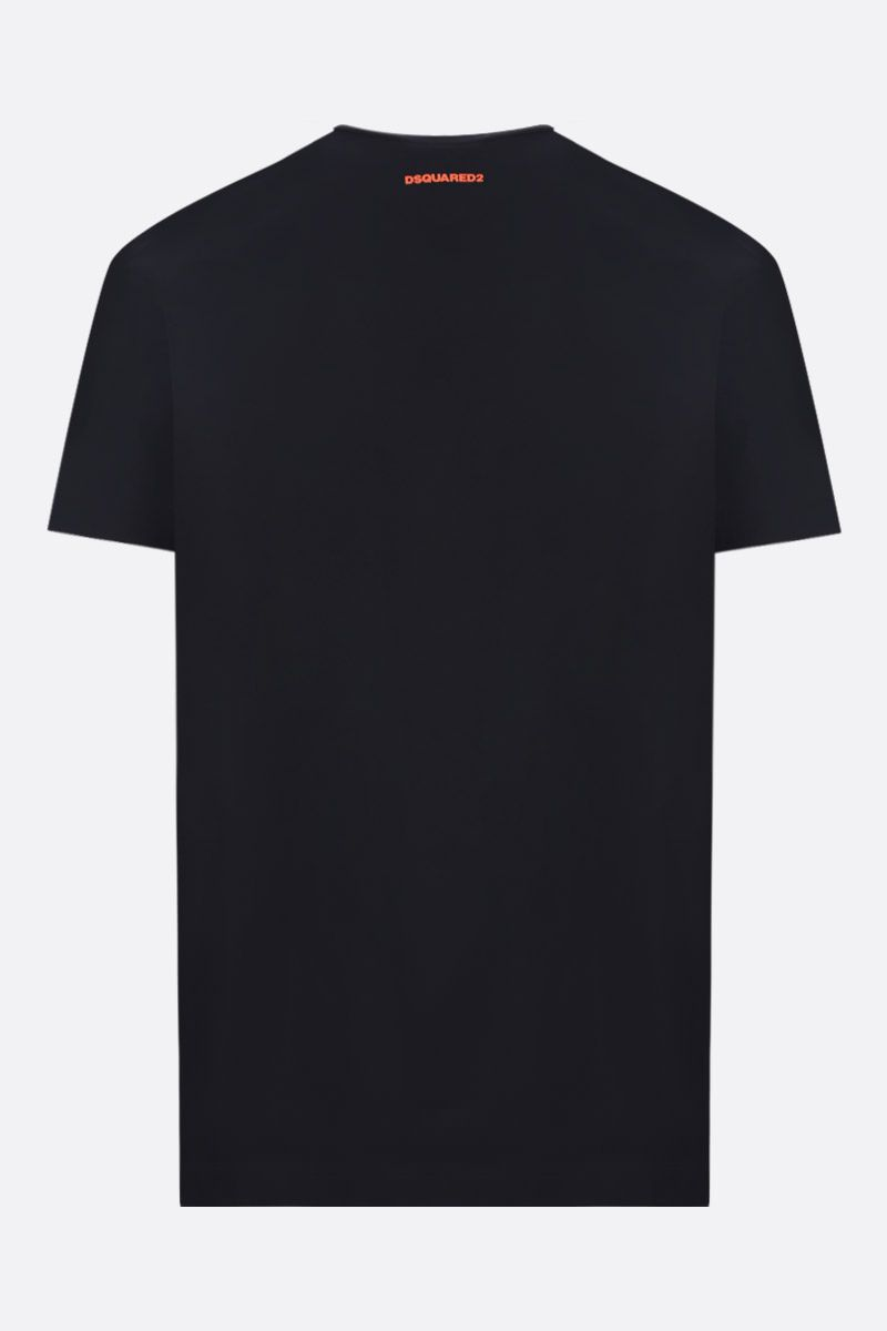 DSQUARED2: Dan Caten print cotton t-shirt Color Black_2