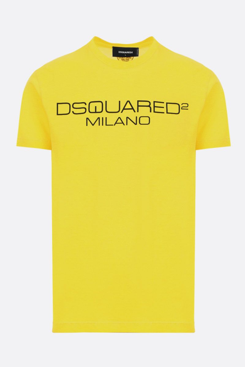 DSQUARED2: Dsquared2 Milano print cotton t-shirt Color Yellow_1