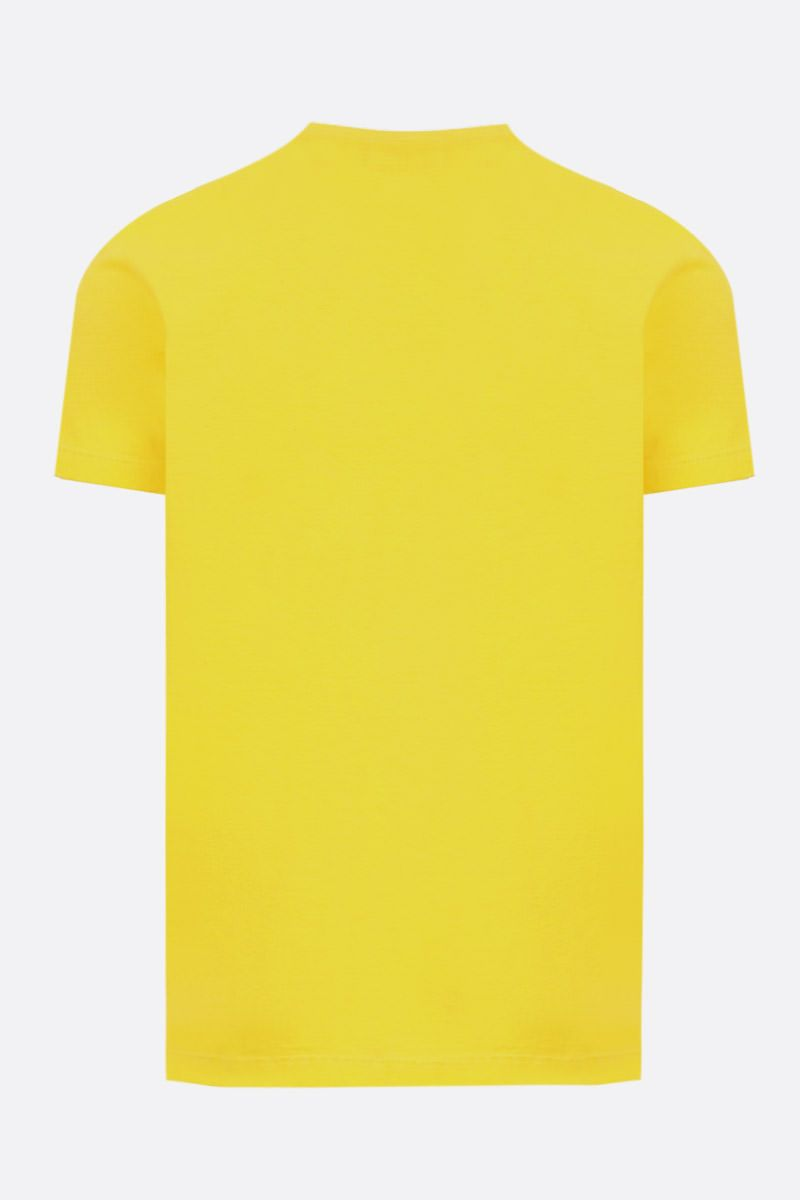 DSQUARED2: Dsquared2 Milano print cotton t-shirt Color Yellow_2