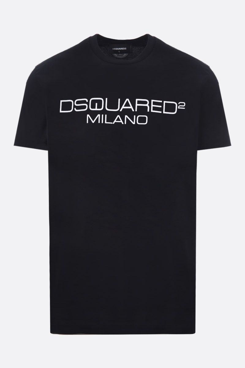DSQUARED2: Dsquared2 Milano print cotton t-shirt Color Black_1