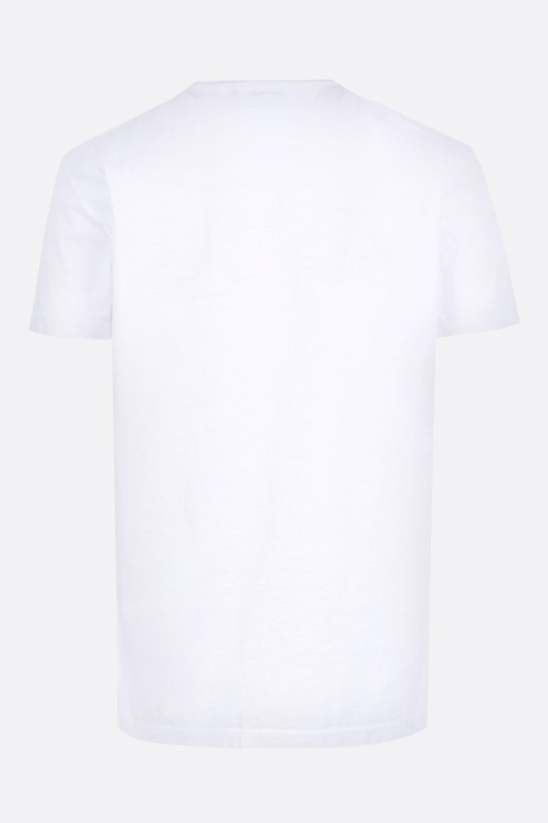 DSQUARED2: t-shirt in cotone stampa Dsquared2 Convoy Colore Bianco_2