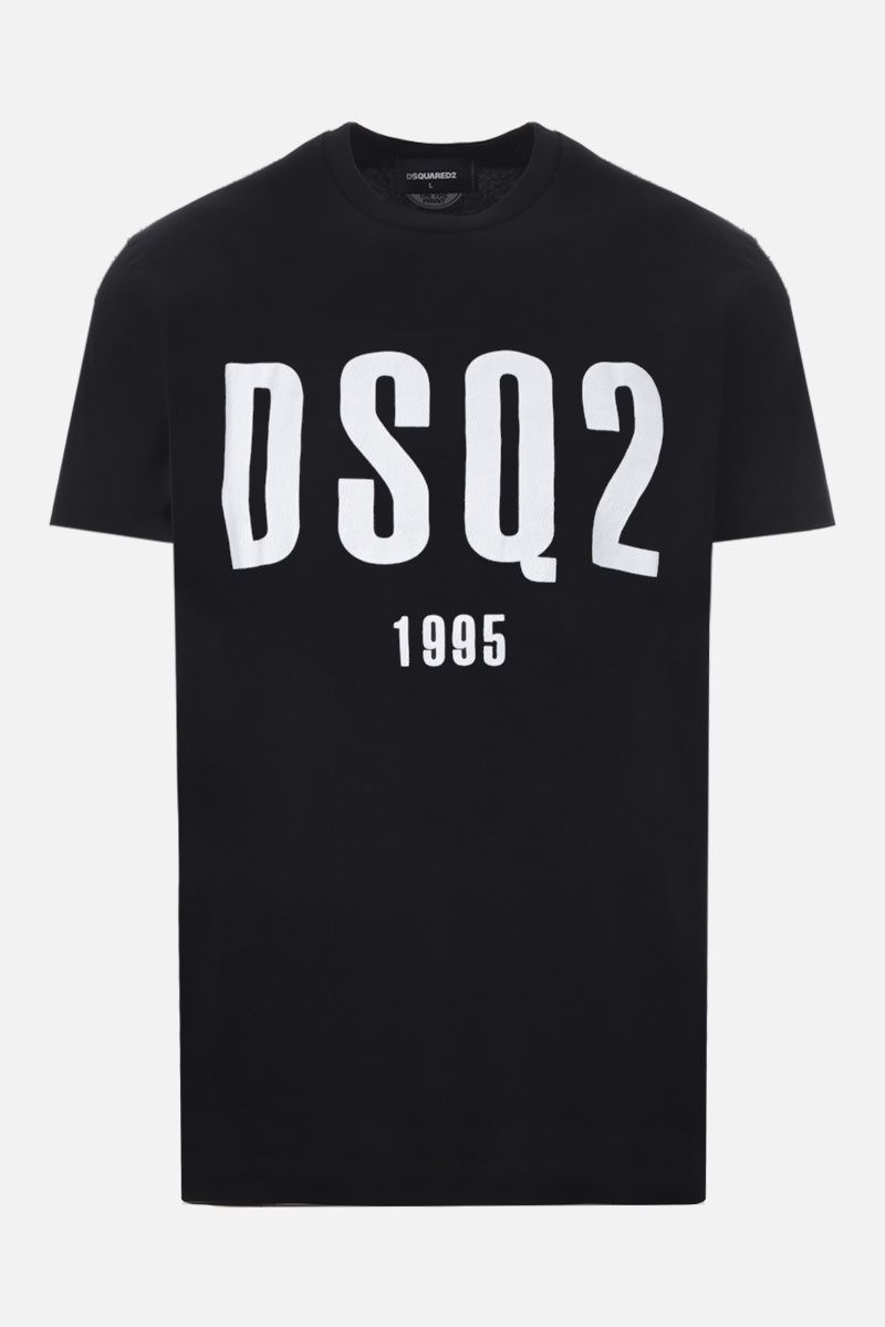 DSQUARED2: DSQ2 1995 print cotton t-shirt Color Black_1