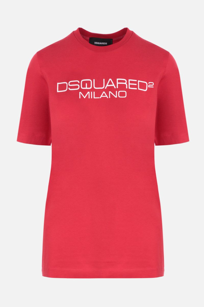 DSQUARED2: Dsquared2 Milano print cotton t-shirt Color Red_1