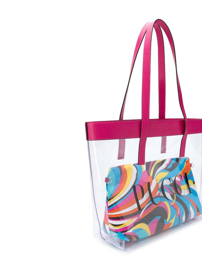 EMILIO PUCCI JUNIOR: Pucci print PVC shopping bag_2