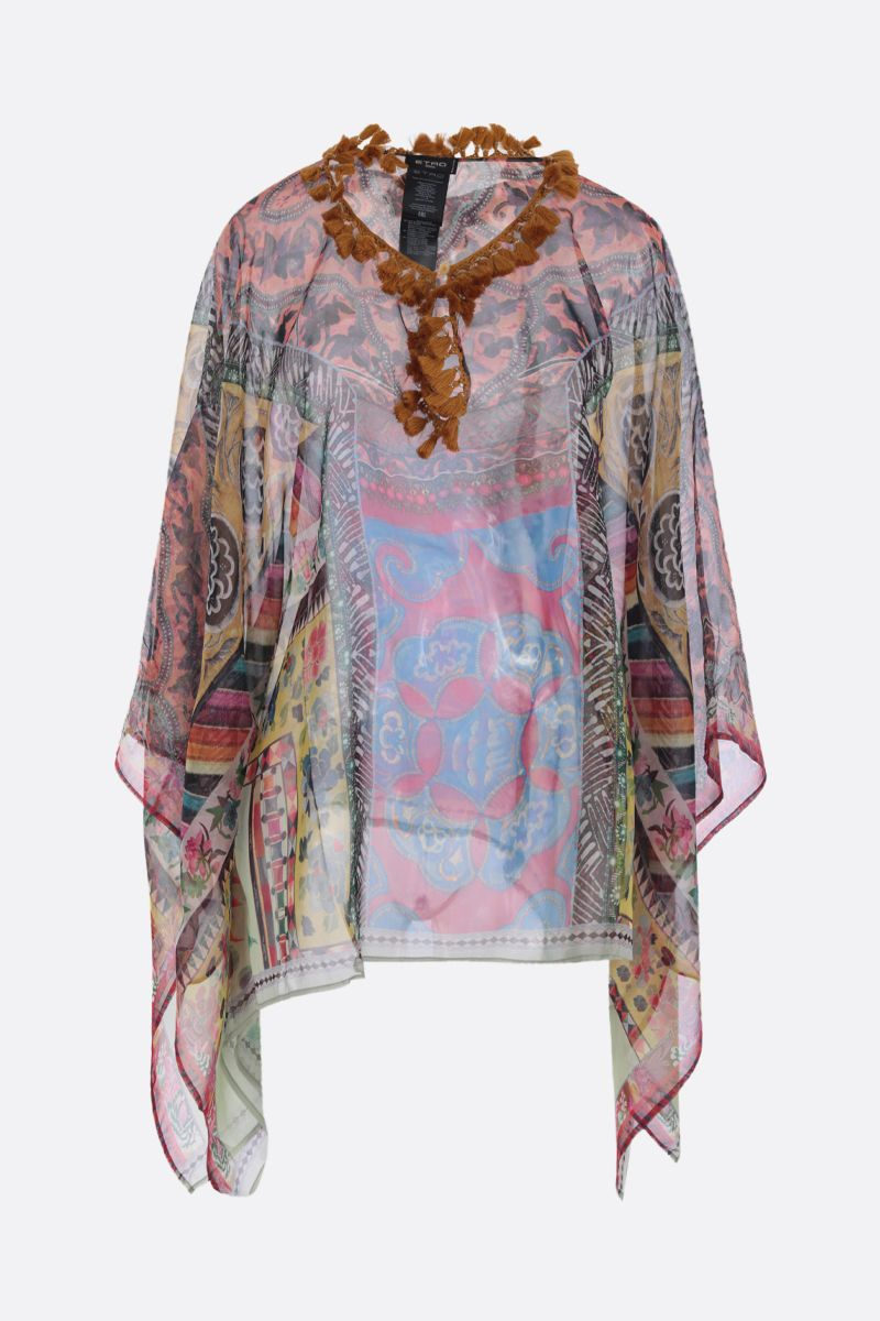 ETRO: patchwork printed silk blouse Color Multicolor_1
