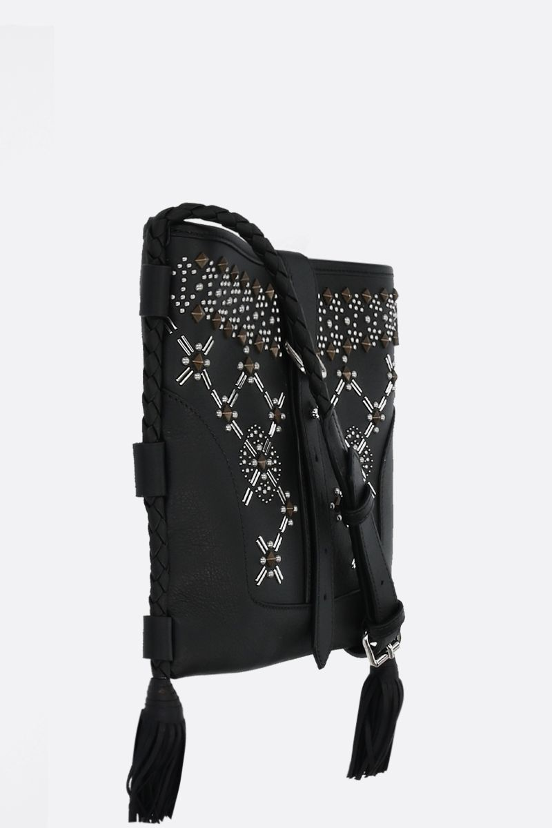ETRO: Eivissa studded leather crossbody bag Color Black_2