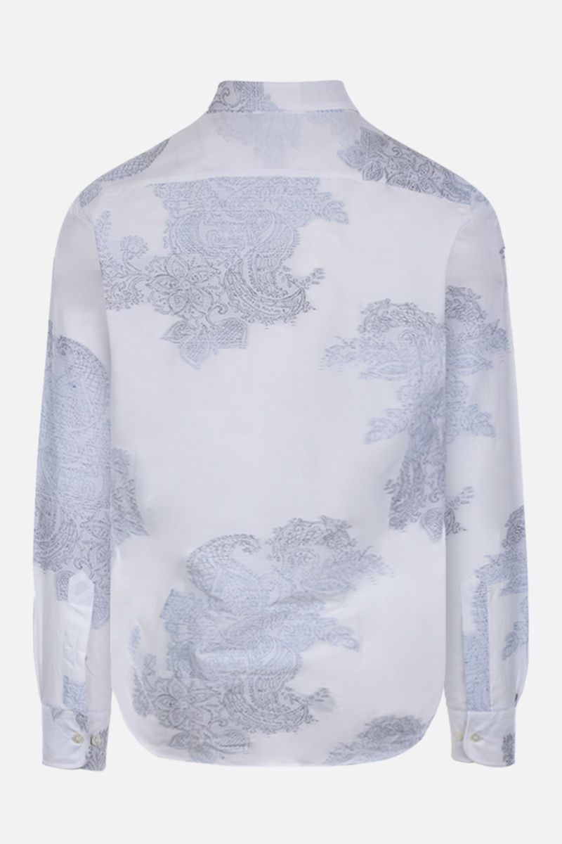 ETRO: Paisley embroidered cotton silk blend shirt Color White_2