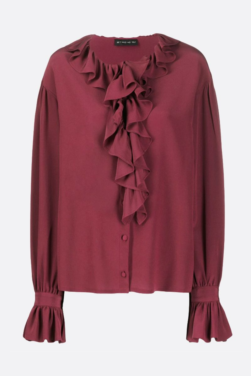 ETRO: silk ruched blouse Color Red_1