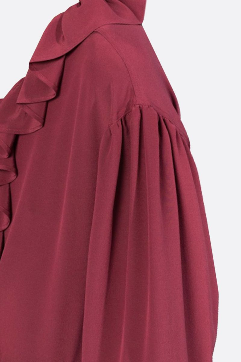 ETRO: silk ruched blouse Color Red_2