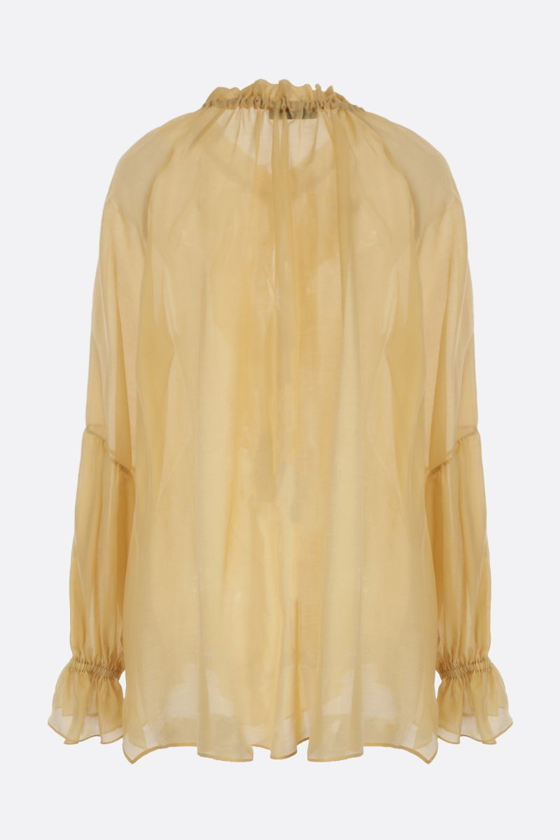 ETRO: ruffle-detailed cotton and silk blend shirt_2