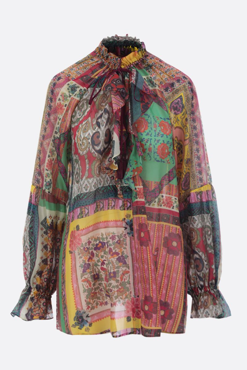 ETRO: printed cotton and silk blend shirt Color Multicolor_1
