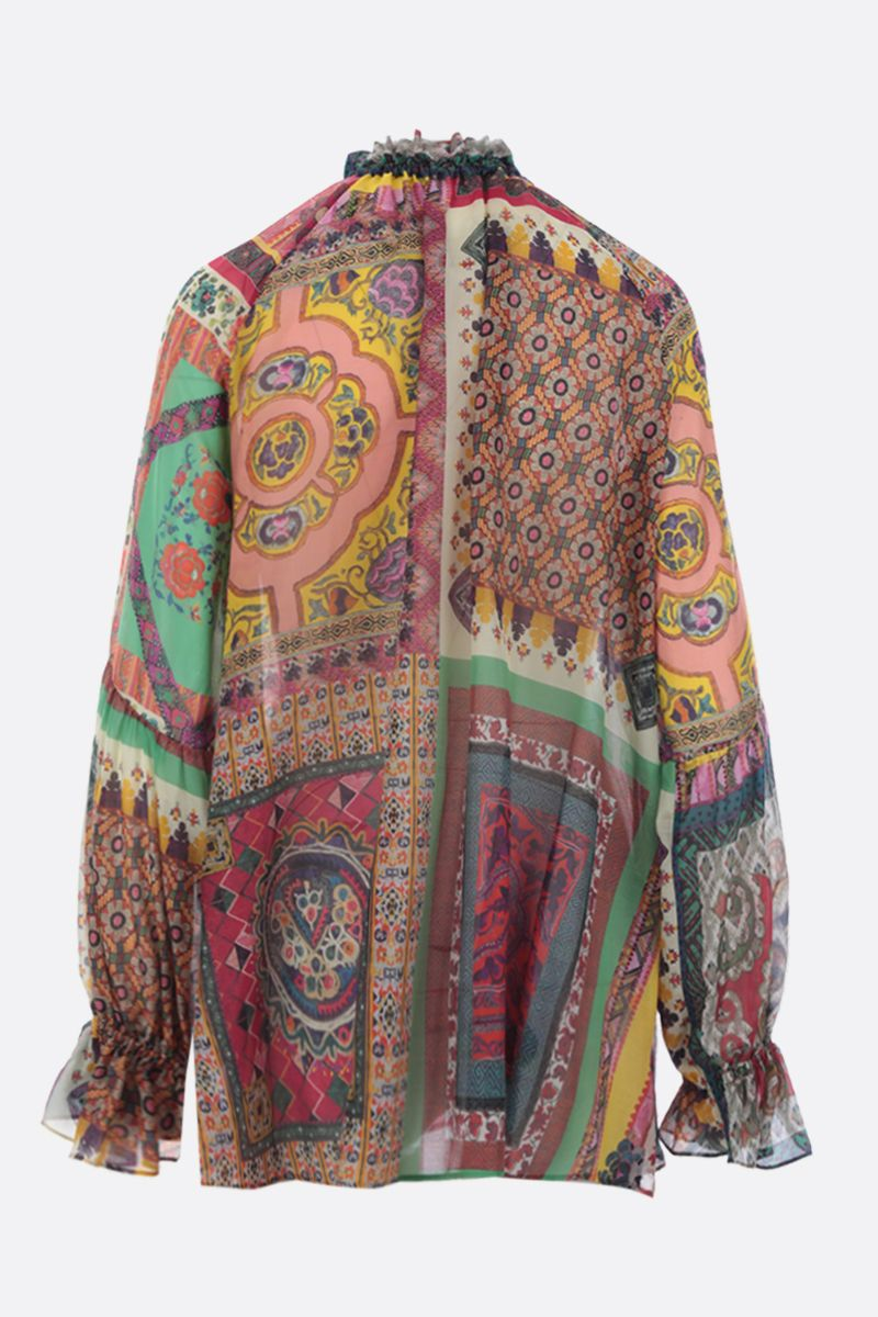 ETRO: printed cotton and silk blend shirt Color Multicolor_2