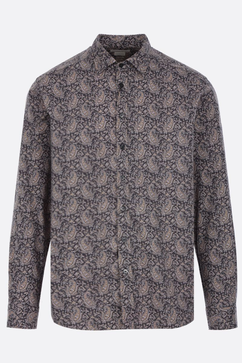 ETRO: micro Paisley print cotton shirt Color Multicolor_1