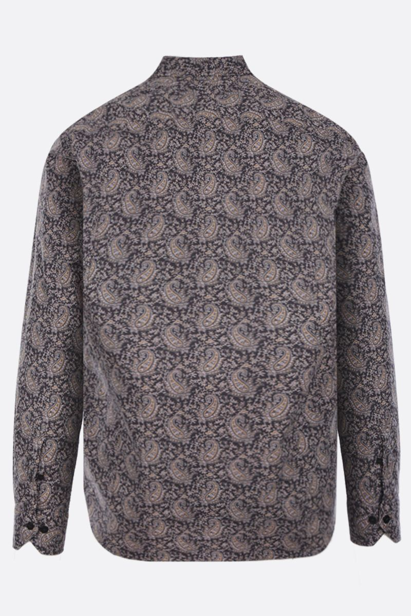 ETRO: micro Paisley print cotton shirt Color Multicolor_2