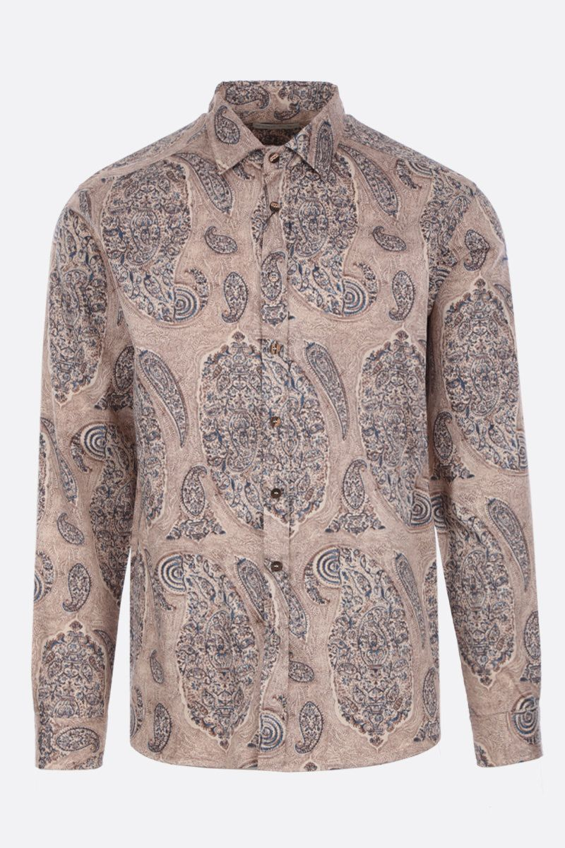 ETRO: Paisley print cotton shirt Color Neutral_1