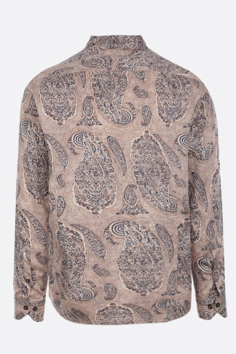 ETRO: Paisley print cotton shirt Color Neutral_2