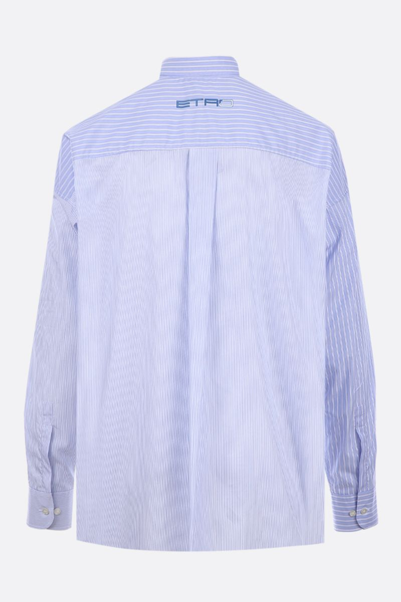 ETRO: ETRO X STAR WARS shirt in striped poplin Color Blue_2