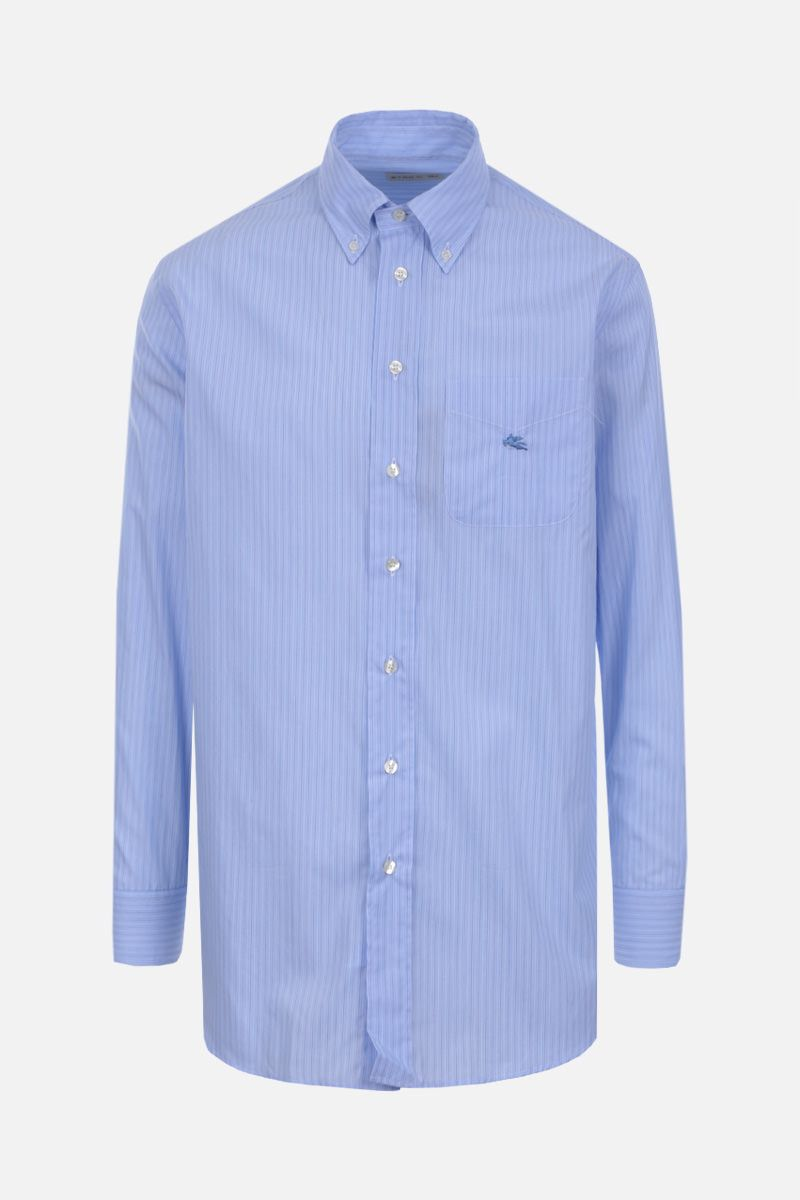 ETRO: striped cotton shirt Color Blue_1