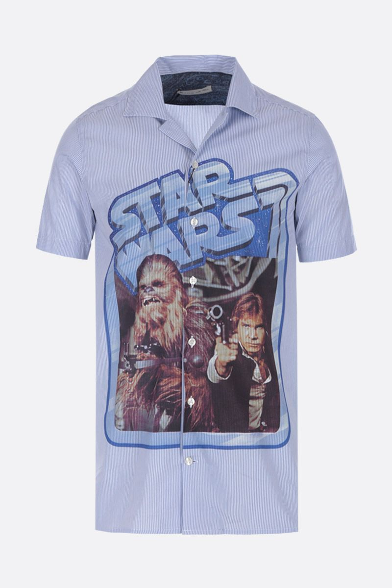 ETRO: ETRO X STAR WARS bowling shirt in poplin Color Blue_1