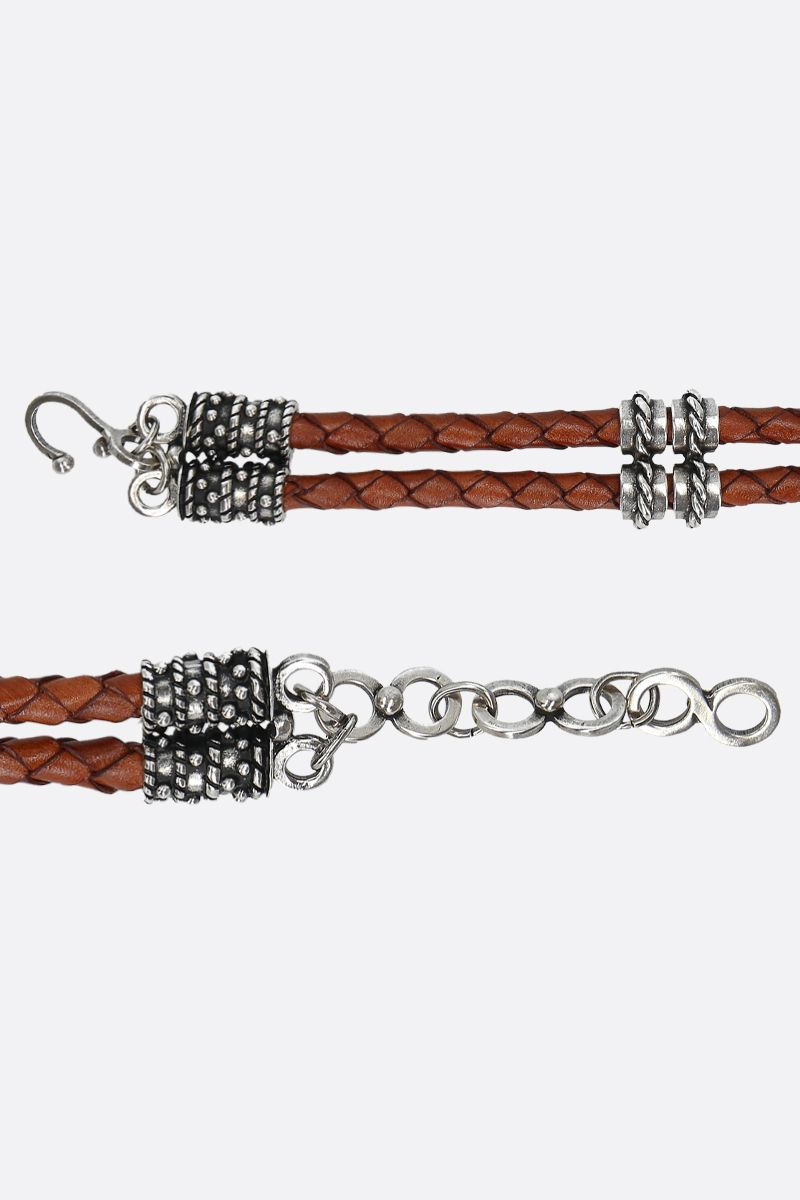 ETRO: jewel buckle-detailed woven leather belt Color Multicolor_2