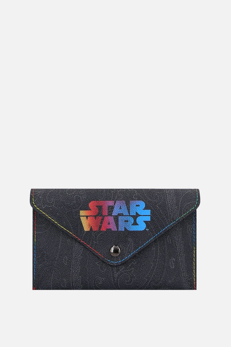 ETRO: busta ETRO X STAR WARS in canvas resinato Colore Nero_1