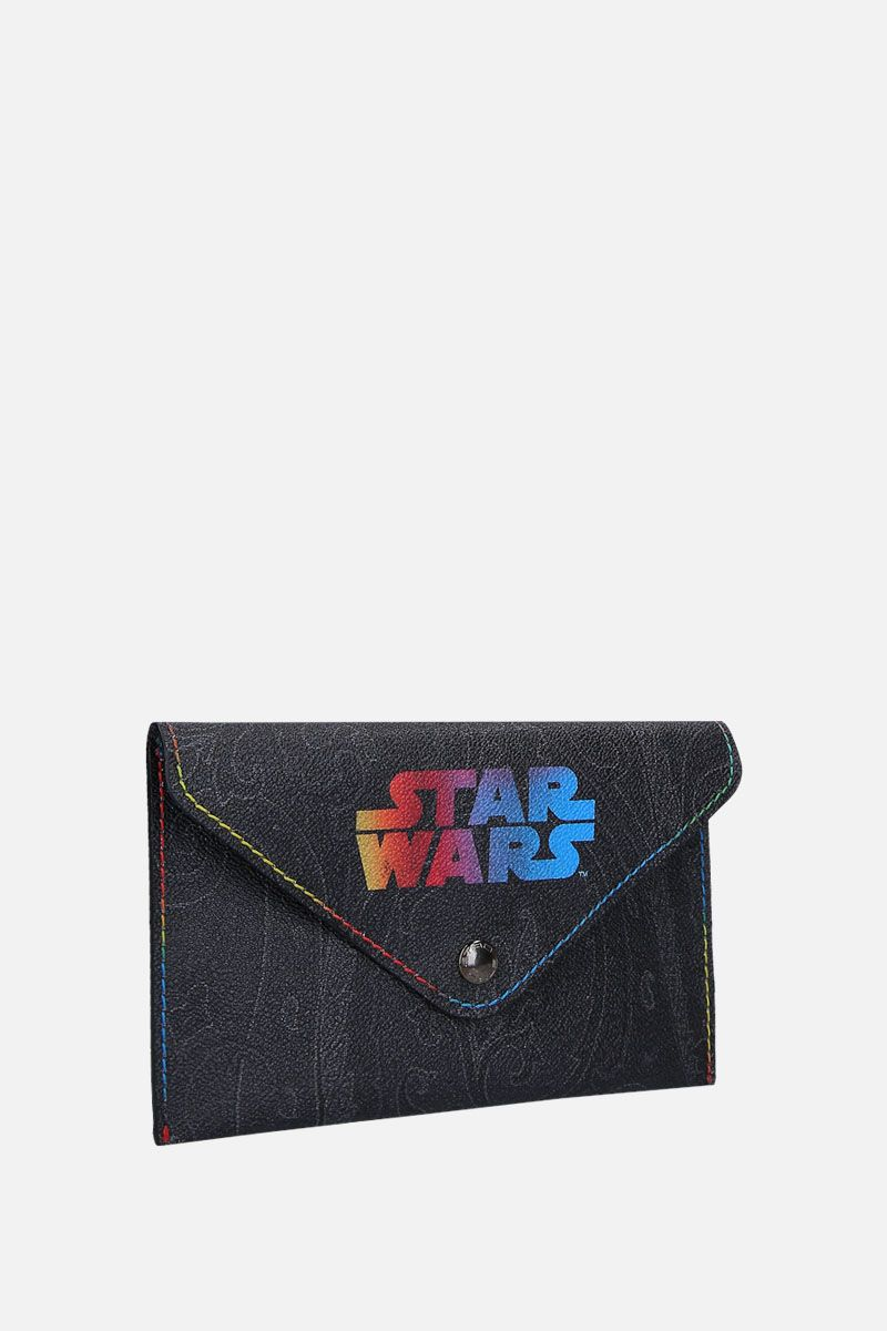 ETRO: busta ETRO X STAR WARS in canvas resinato Colore Nero_2