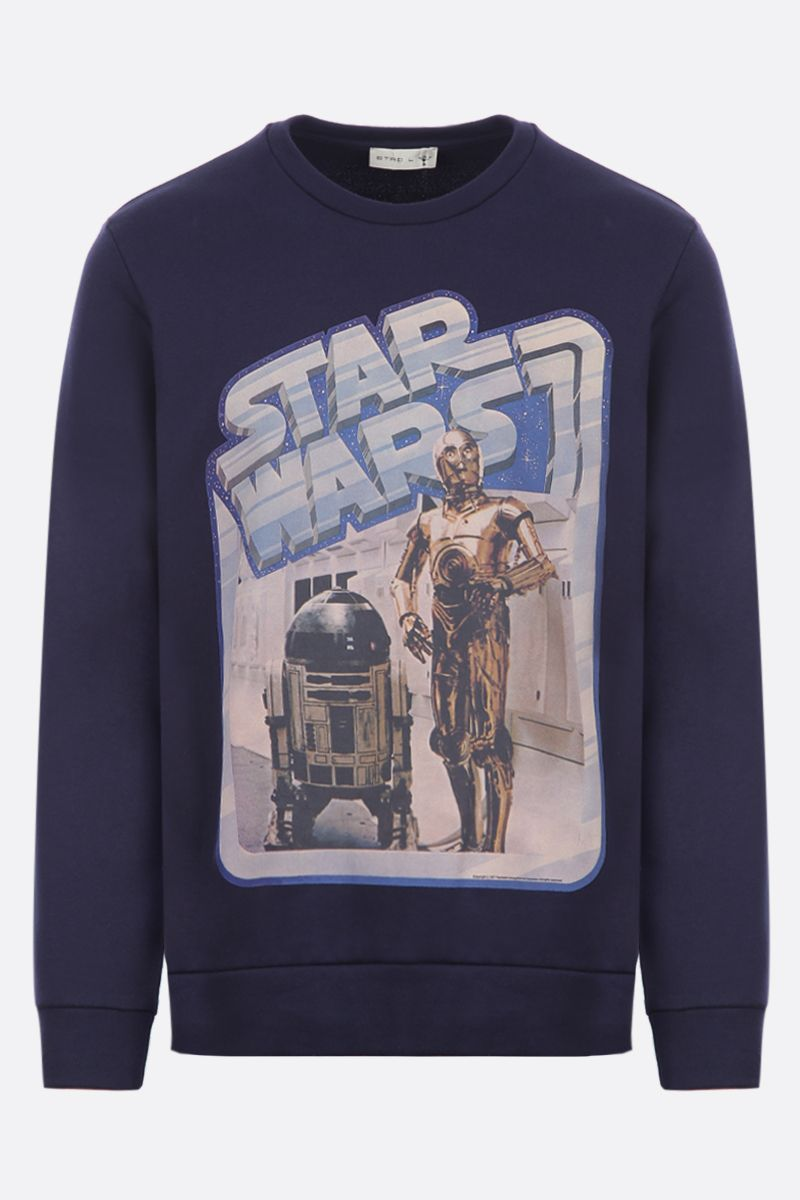ETRO: ETRO X STAR WARS cotton hoodie Color Blue_1