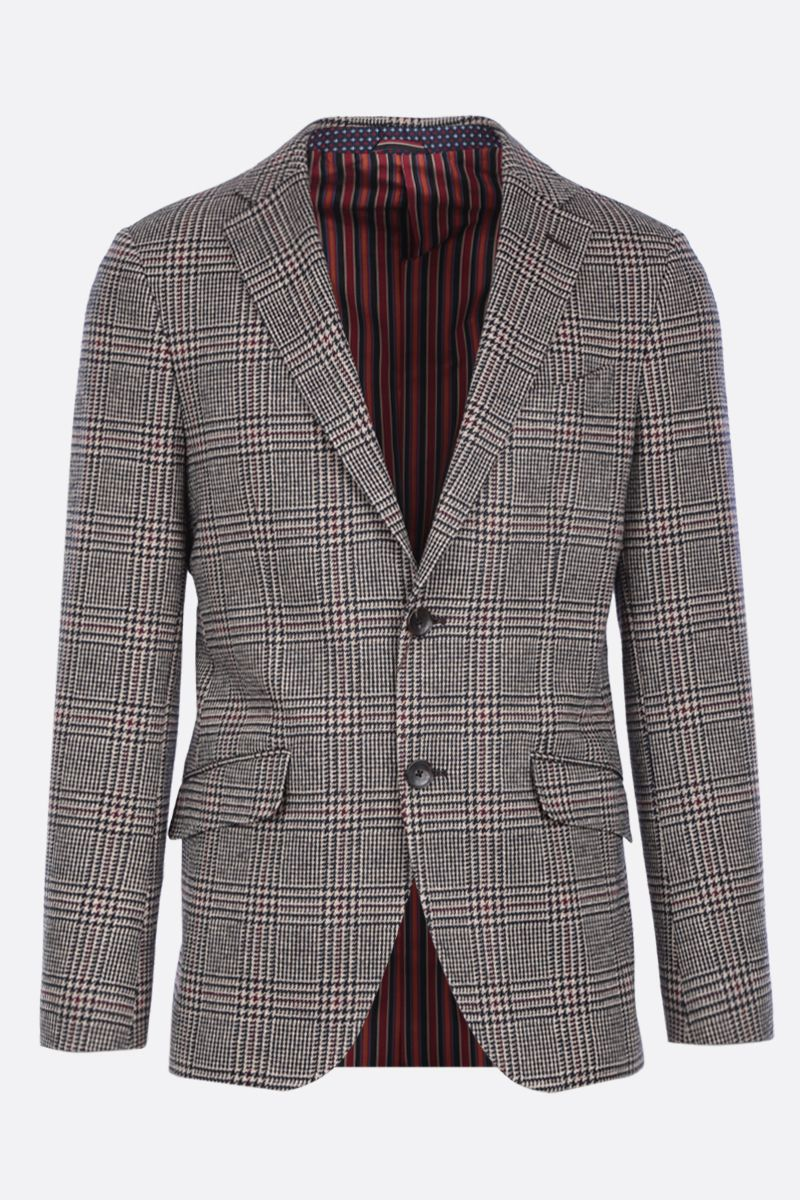 ETRO: houndstooth-motif wool blend single-breasted jacket Color Multicolor_1