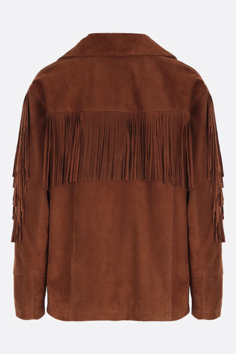 ETRO: oversized suede jacket Color Brown_2