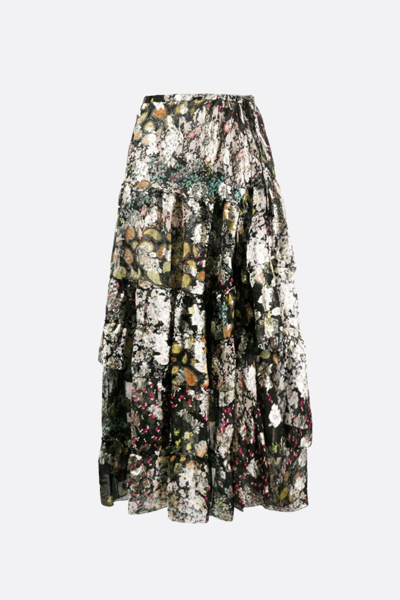 ETRO: Cynthia silk flounced skirt Color Multicolor_1