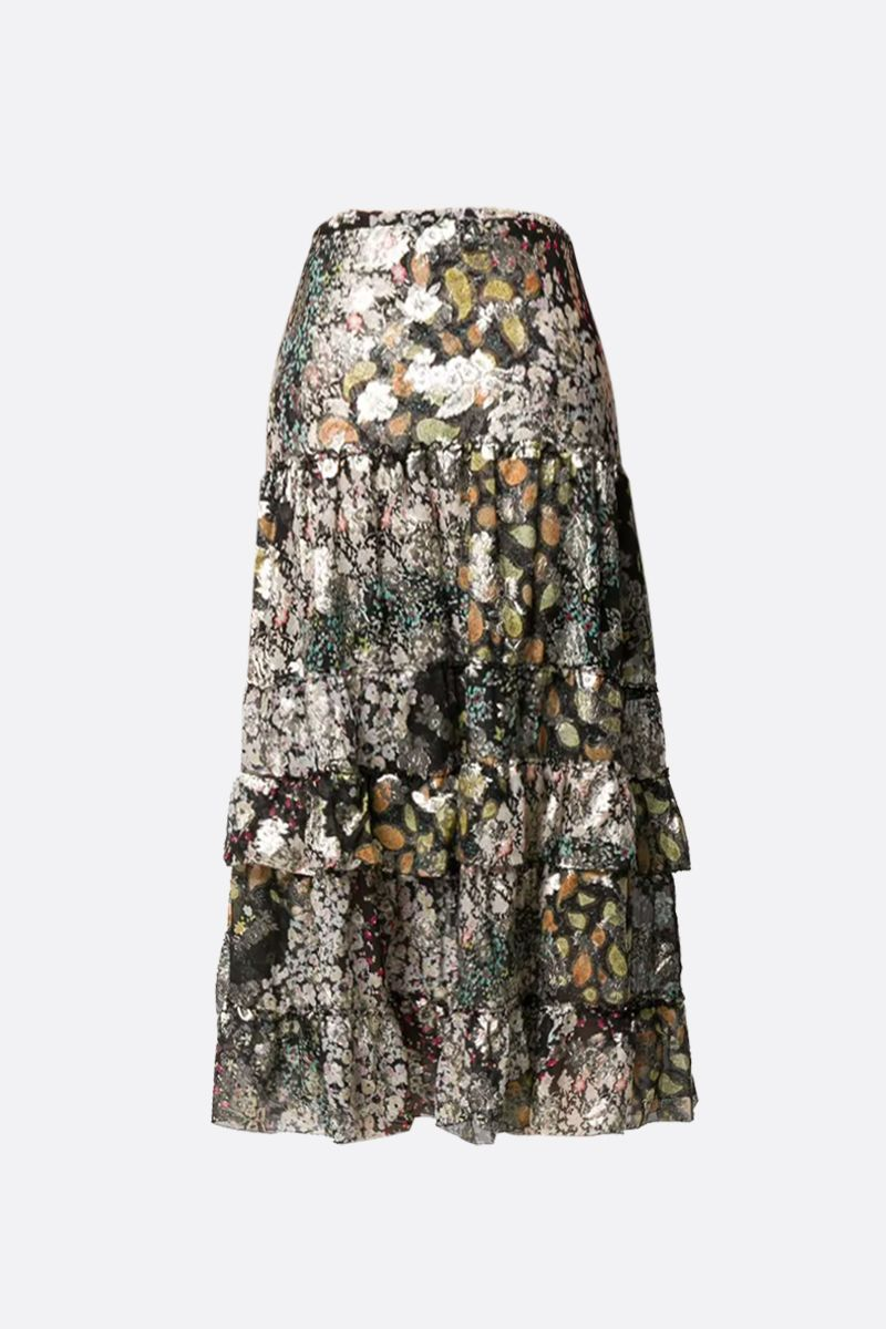 ETRO: Cynthia silk flounced skirt Color Multicolor_2